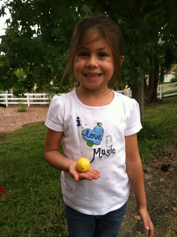 Brianna, the littlest lemon picker